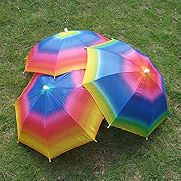 Plegable Ajustable para sombrilla paraguas sombrero gorra de sol lluvia paraguas para al aire libre Camping