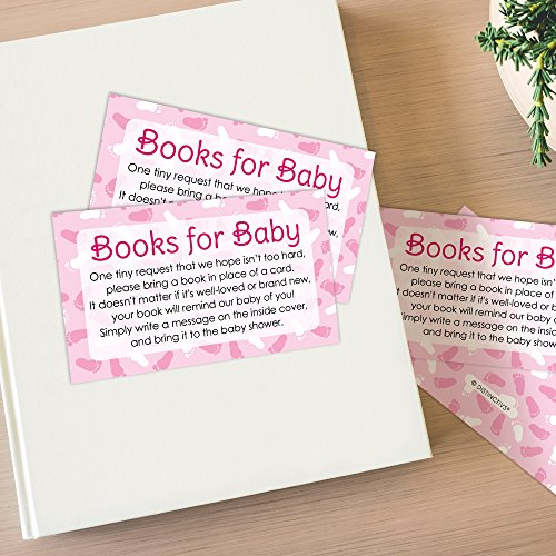 amazon com books for baby request cards girl baby shower