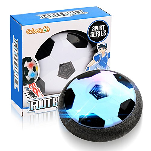 ColorGo Hover Soccer Ball Air Power Floating Football Disk With LED Lights Indoor and Outdoor Toys for Boys and Adults