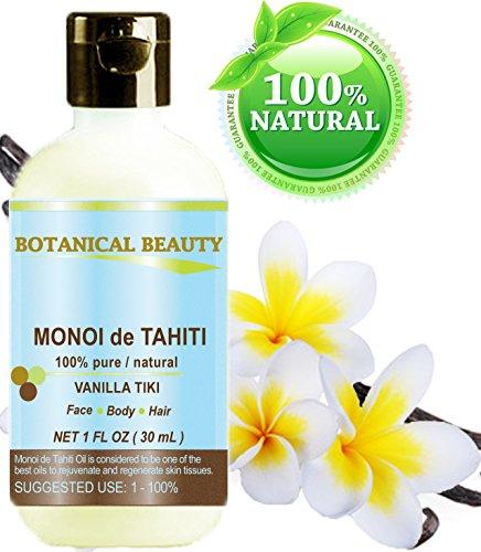 MONOI TAHITI / Natural Undiluted / Virgin Original 1 fl.oz.- 30 ml. Hair by Botanical