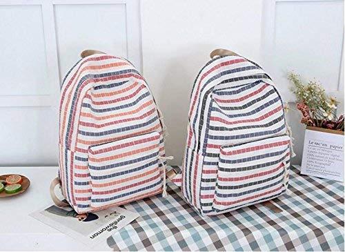 B OIBHFO Home Personnalité Sacs à Dos Sac à Dos de Mode toile Lattice Pattern sac à dos Middle School sac (Taille   B)