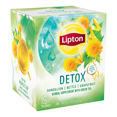 Lipton Herbal Supplement with Green Tea, Detox 15 ct, Pack of 4 by Lipton (Image #3)