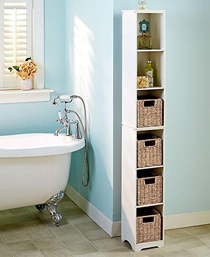 Slim Storage Tower (White) (Bathroom Storage Slim compare prices)
