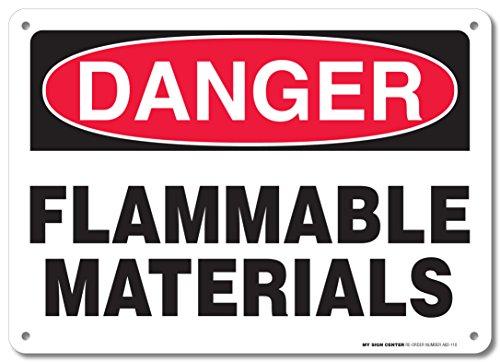 Danger Flammable Materials Sign - 10
