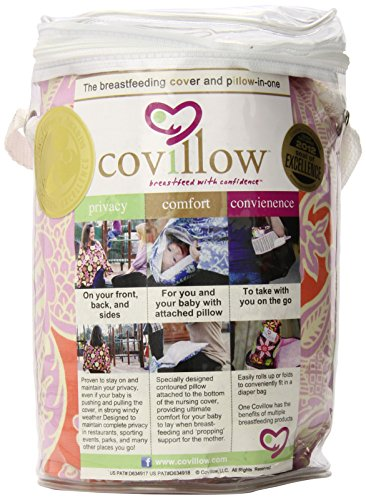 Covillow Breastfeeding Cover and Pillow-In-One, Tranquil Tangerine by Covillow