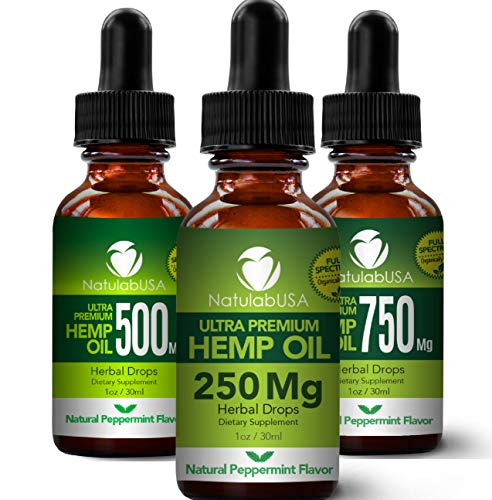 Hemp Oil - Fast Results - Relieve Chronic Pain - Ultra Premium Hemp Extract - Pure Hemp Seed Oil - Better Sleep - Healthier Skin - Smoother Hair - 250mg - 1oz- Natural Peppermint Flavor (Best Non Nicotine E Liquid)