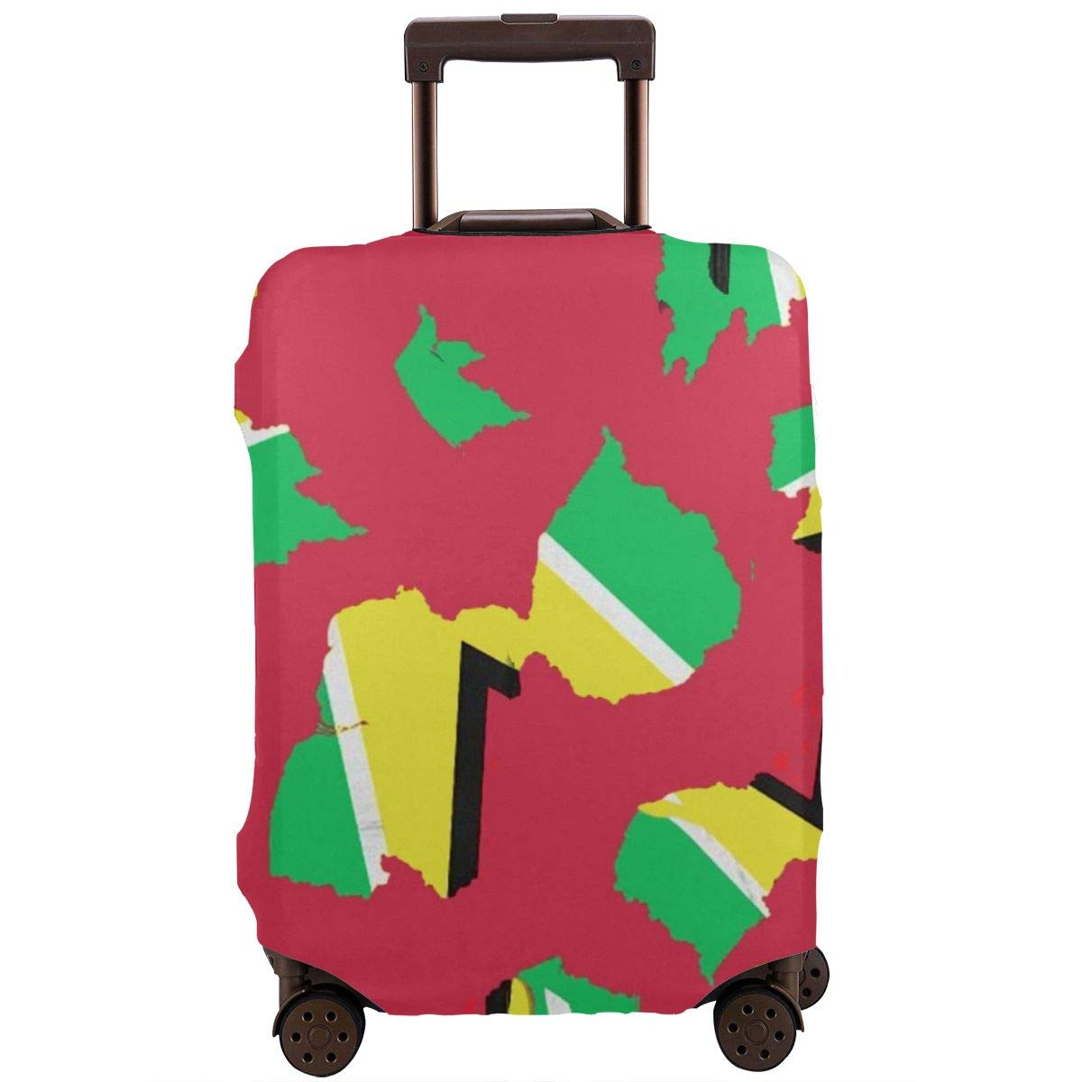 Guyana Flag Lover Luggage Cover Spandex Travel Suitcase Protector Elastic Stretchy XL Fits 29-32 inch luggage