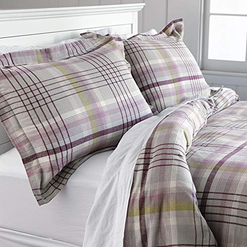Orvis Highland Plaid Flannel Duvet Cover and Sham/Twin Duvet Cover, Twin