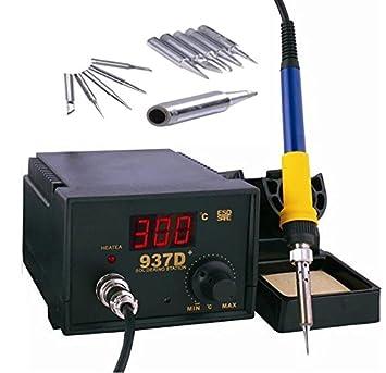 60W Lötkolben Lötstation Digitale Regelbare ESD mit 5 Spitzen 220-240 V 200-480℃