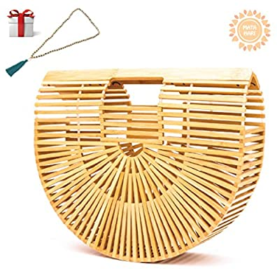 Bamboo Handbag by Matahari Handmade Womens Beach Ark Bag Bamboo Purse Clutch