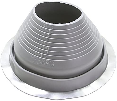 Metal Roofing Pipe Flashing Deks #2 Round Gray EPDM Flexible Pipe Flashing Dektite DF102G fits OD Pipe Sizes 1-3//4 to 3-1//4 Metal Roof Jack Pipe Boot