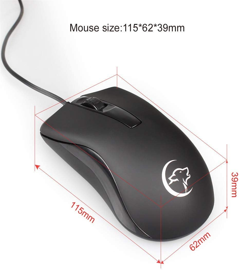 Semoic 2400Dpi Optical Wired Mouse Gaming Mice G831 for Pubg LOL Dota2 Gamers Pc Computer Laptop Notebook Accessories