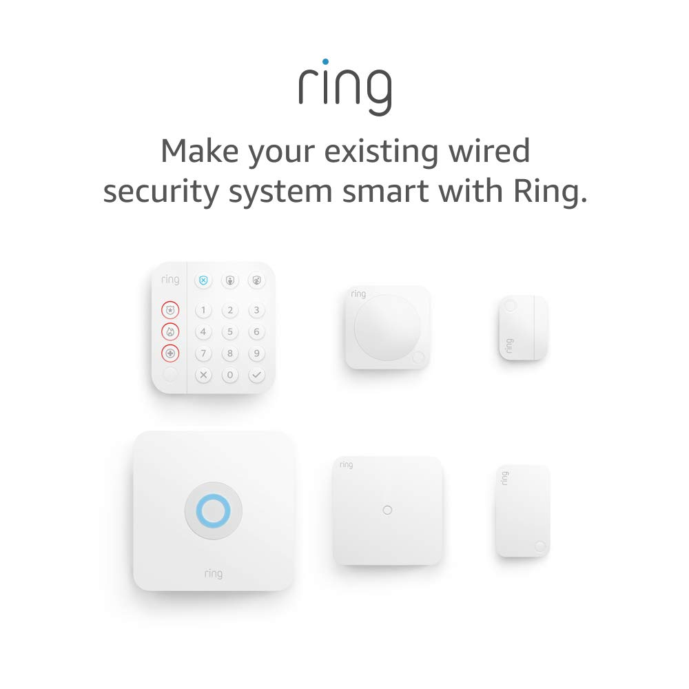Ring Retrofit Alarm kit with all-new Ring Alarm 5-piece kit – existing wired security system required, professional installation recommended