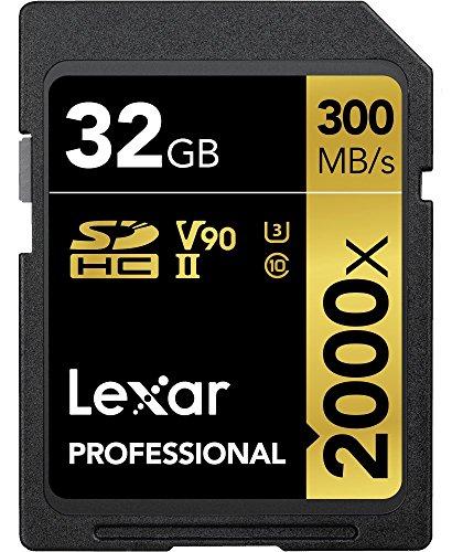 Lexar Professional 2000x 32GB SDHC UHS-II Card