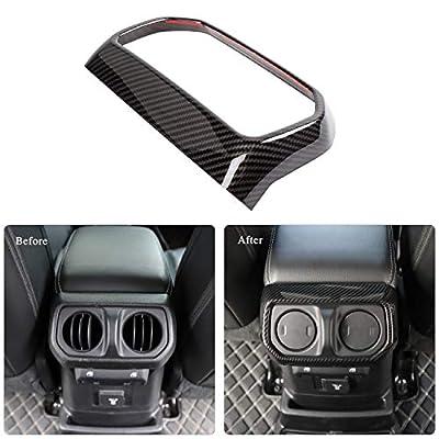 RT-TCZ Rear Back Seat Air Vents Decor Trim Cover Air-Condition Vent Cover ABS Panel Trim Frame Bezel for Jeep Wrangler 2020-2021 JL JLU Sport X Sahara Rubicon Carbon Fiber: Automotive