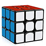 Guanlong Qiyi The Valk 3 Speed Cube 3x3 with New Anti-pop Structure Smooth Magic Cube Puzzles 56 mm Black