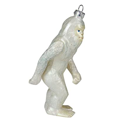 abominable snowman christmas tree ornament collectors holiday bigfoot ornament sasquatch tree decor 45 tall - Bigfoot Christmas Ornament