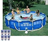 Intex 12' x 30'' Metal Frame Set Swimming Pool with 530 GPH Filter Pump | 28211EG