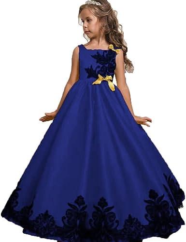 Flower Girl Dress Wedding Bridesmaid Formal Party Maxi Gown Birthday Graduation