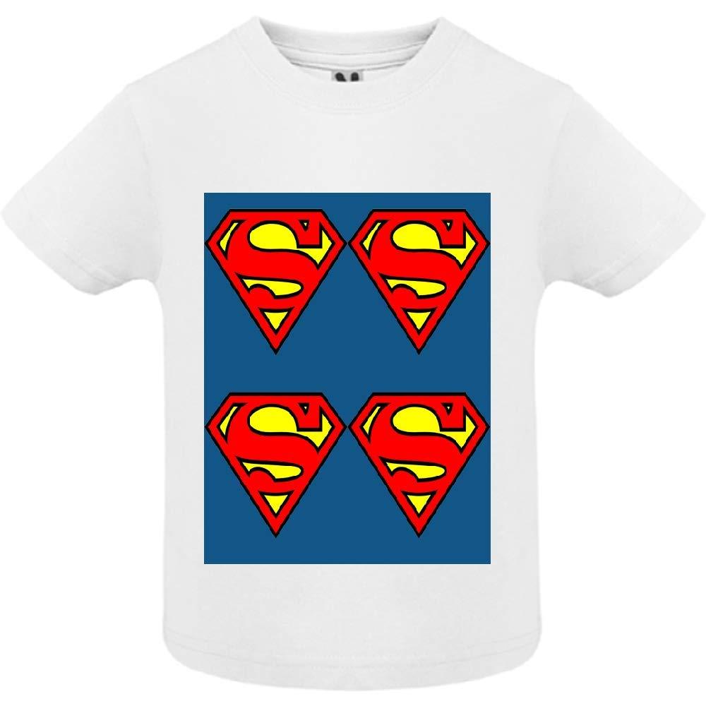 access-mobile-ile-de-re.fr T-Shirt - Manche Courte - Col Rond - Super Hero 23 - Bébé Garçon - Blanc - 2ans