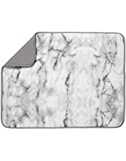 S&T INC. Absorbent, Reversible XL Microfiber Dish Drying Mat for Kitchen, 18 Inch x 24 Inch, Marble