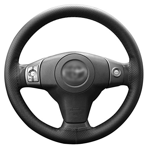 Lemonbest C0196 Universal Car Steering Wheel Stitch On Wrap Cover, 106 cm, Black