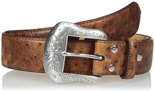 Nocona Men's Full Vintage Ostrich, Brown, - Brown Nocona Belt