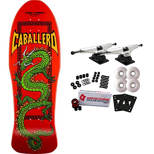 (Powell-Peralta Skateboard Complete Caballero Cab Chinese Dragon Red RE-Issue)