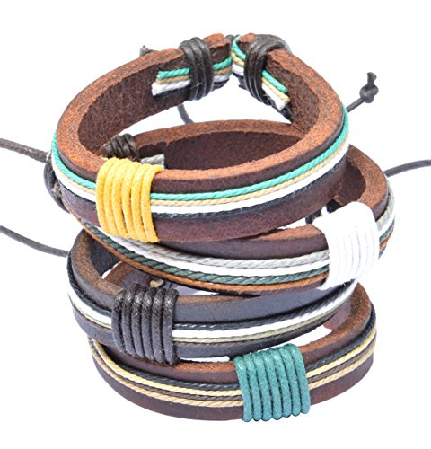 Different Leather Wristbands Bracelets Anklets product image