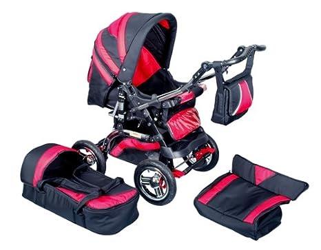 D&S - Carrito para bebés y accesorios, color rojo