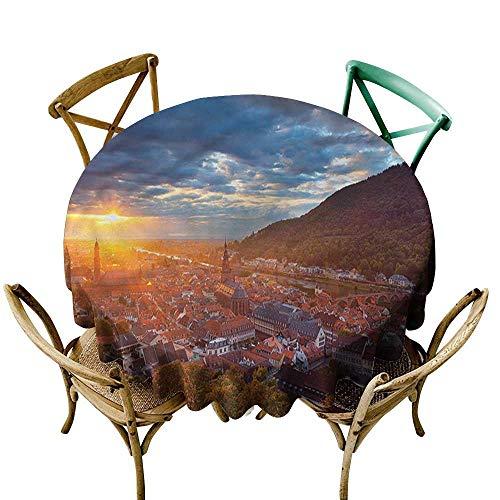 familytaste Cityscape,Circular Table CoverHeidelberg German Sunset D 70