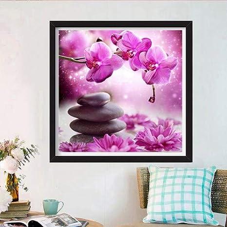 Eine Blume 30x30cm Vollbohrer Andbby DIY 5D Diamant Painting Crystal Strass Stickerei Bilder Kunst Handwerk f/ür Home Wall Decor