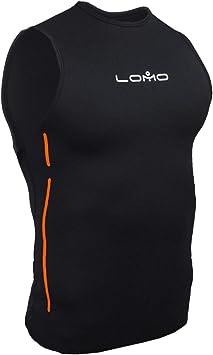 Chaleco de neopreno para hombre de Lomo, negro: Amazon.es: Deportes y aire libre