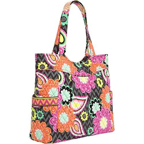 Bag Top Pleated Ziggy Zip Tote Zinnia Vera Bradley 7XwHII