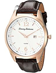 Tommy Bahama Mens Quartz Stainless Steel and Leather Casual Watch, Color:Brown (Model: TB00015-03)