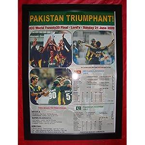 Sports Prints UK Pakistan 2009 ICC World Twenty20 winners - framed print