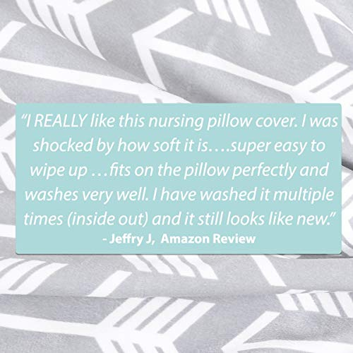 51WgjTTPieL - Minky Nursing Pillow Cover - Arrow Pattern Slipcover