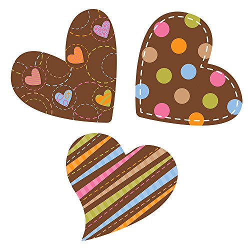 Creative Teaching Press 6-Inch Designer Cut-Outs, Dots on Chocolate Hearts (3881) for $<!--$4.75-->