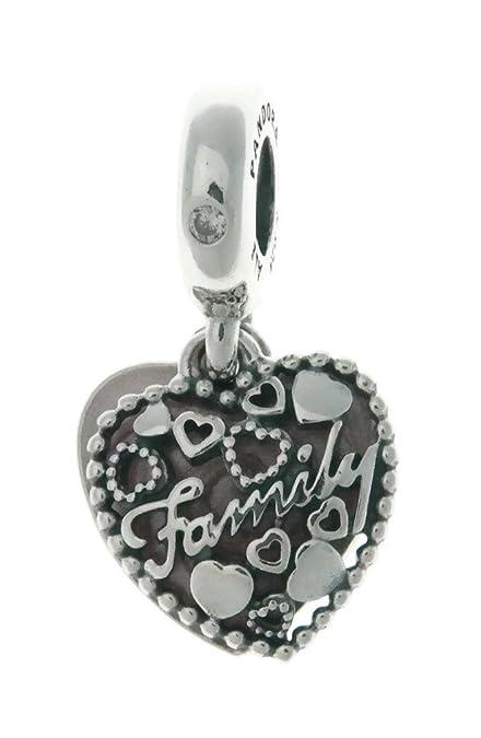 bdb8c86e8 PANDORA Love Makes A Family Dangle Charm, Pink Enamel & Clear CZ  796459EN28: Amazon.ca: Jewelry