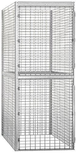 Salsbury Industries Bulk Storage Locker Double Tier Starter, 36-Inch, 60-Inch
