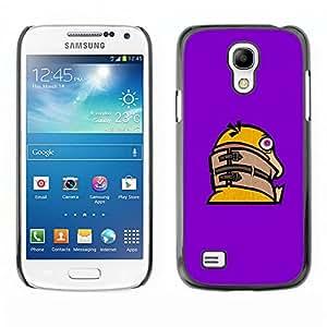 CASEX Cases / Samsung Galaxy S4 Mini i9190 MINI VERSION! / Funny Crazy Duck # / Delgado Negro Plástico caso cubierta Shell Armor Funda Case Cover Slim Armor Defender