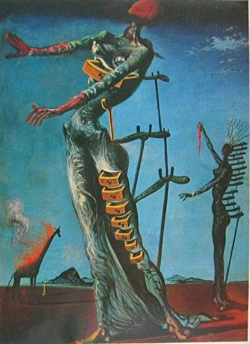 (SAVA 63053 The Burning Giraffe by Salvador Dali Surrealism Decor Wall 36x24 Poster Print)