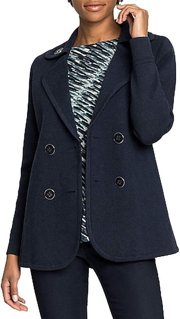 Womens Polished Peacoat Jacket NIC+ZOE Dark Indigo