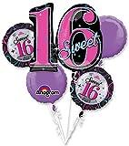 Sweet 16 Balloon Bouquet (Each) - Party Supplies