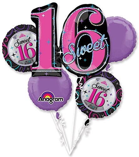 Sweet 16 Balloon Bouquet (Each) - Party (Sweet 16 Balloons)