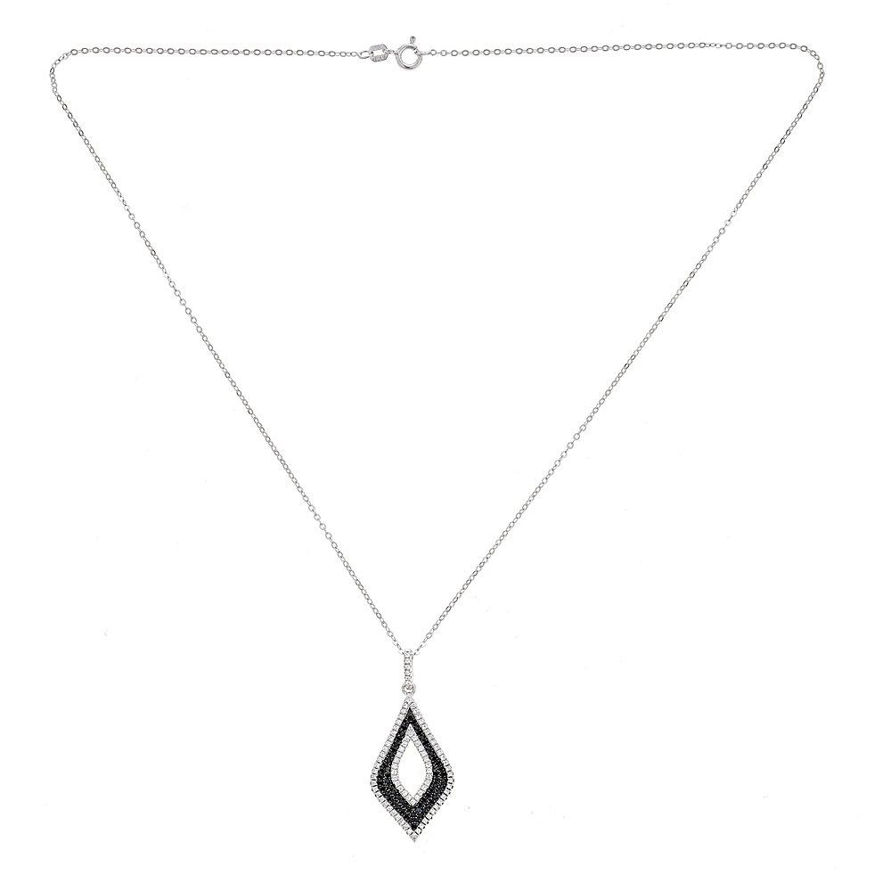 5b1e6c71c0c45 Amazon.com: OMG Jewelry 925 Sterling Silver Ladies Diamond Shape ...