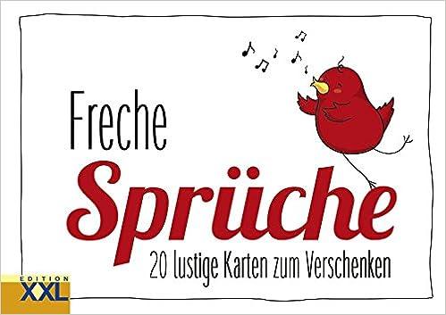 Freche Sprüche Geschenkkartenbuch 20 Lustige Karten Zum