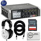 micro mixer with phantom power - Zoom F4 Multi-Track Field Recorder + Essential Recording Bundle