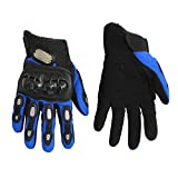 UXOXAS PRO-BIKER Motorcle Gloves Full Finger Antiskid Gloves Riding Racing cling Sport Gloves, black-l, black-l