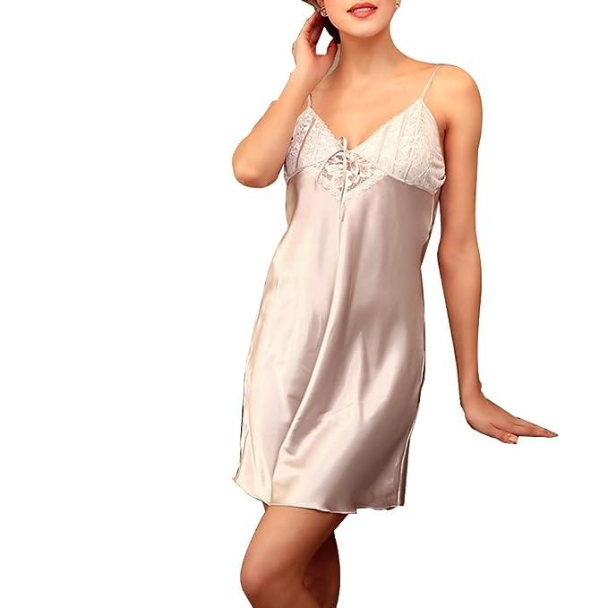 Zhhlinyuan Mens Silk Satins Dressing Gown Sleepwear Bathrobe Night Wear